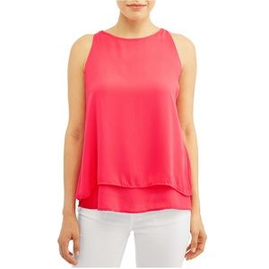 NEW Zac and Rachel Pink high neck tank top Size S